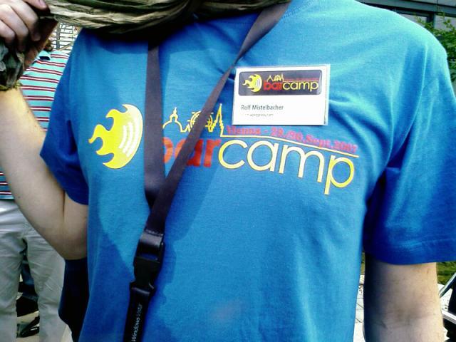 T-Shirt zum Barcamp