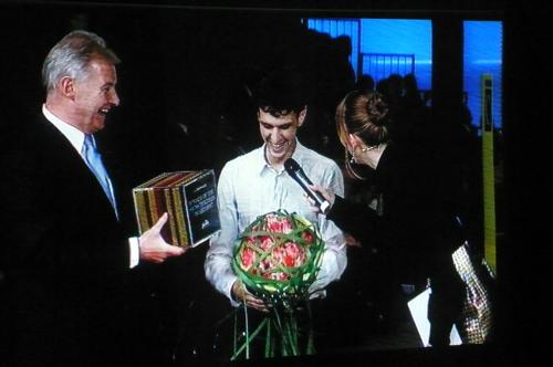 Marios Schwab bei der Preisverleihung. Foto: Diane Pernet