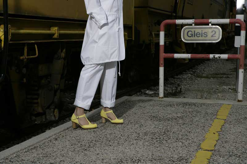 rosa mosa: Modell Tina Giallo, SS08, Foto: Martin Stoebich, Styling: Yohei Yoshida
