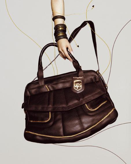 """UPS Tasche """"Youps�? von Karine Arabian, Foto: Serge Derossi"""
