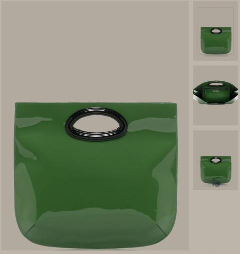 Grüne Handtasche aus Lack-Kalbsleder von Marni