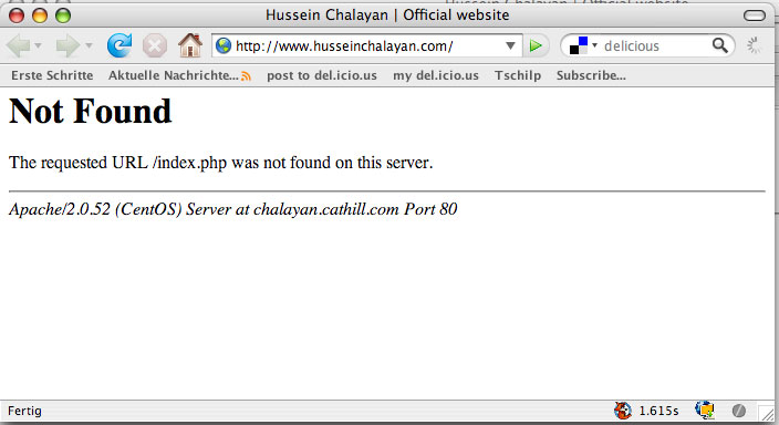 Website Hussein Chalayan Screenshot