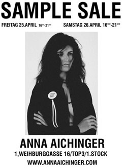 Sample Sale: Anna Aichinger, 25. und 26. April 08