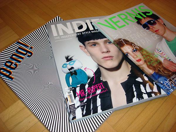 Die österreichischen Modemagazine peng!, Indie, Vernis