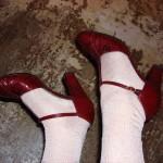 Vintage Schlangenleder-Schuhe, gefunden bei Humana, Wien
