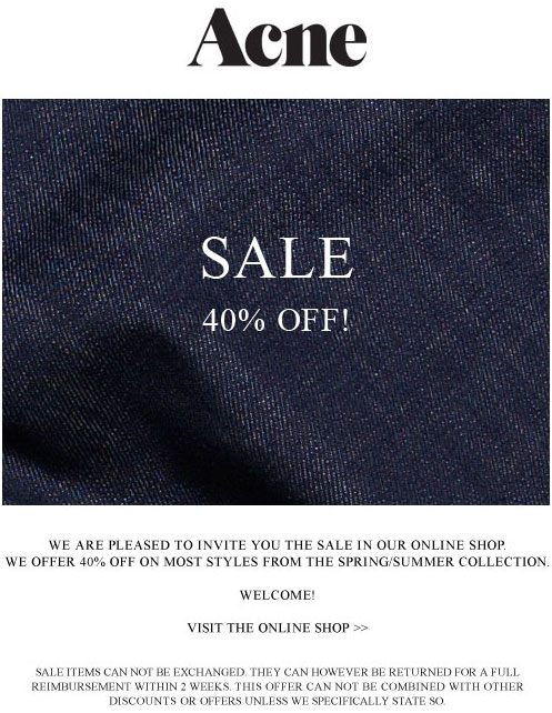 Acne Online Sale