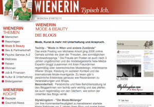 Tschilp auf wienerin.at Juli 09, Screenshot