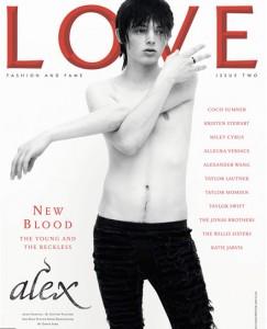 Love, UK, Ausgabe 2 2009, Cover mit Alex