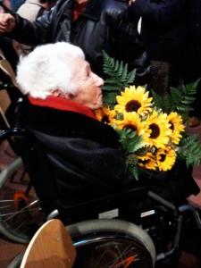 Elly Niebuhr bei der Buchpräsentation