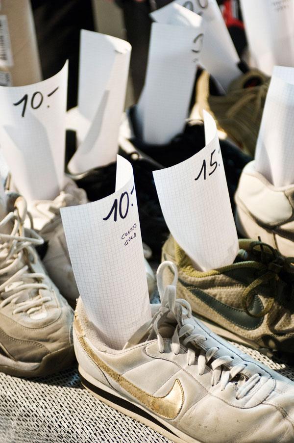 Auf der Sneakerness geht's nicht nur um die neuesten Modelle, sondern auch um den Tausch und Verkauf von Sneaker aus der eigenen Sammlung. Foto: Dejan Jovanovic