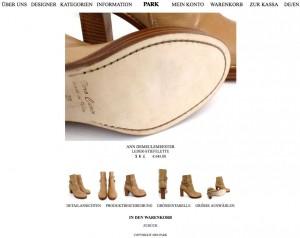 Stiefeletten, Ann Demeulemeester, Park Onlineshop, Screenshot