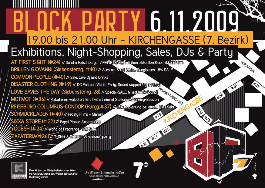 Blockparty in der Kirchengasse, 6.11.09