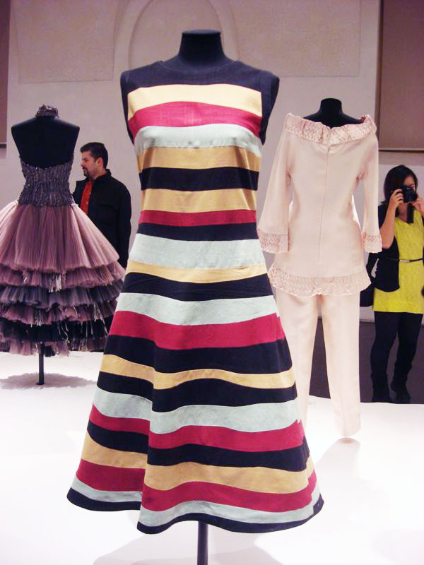 Raffaella Curiel: Haute Couture Tageskleid aus Leinen, 1984