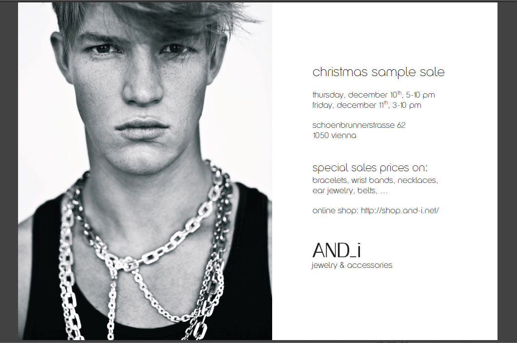 AND_i Christmas Sample Sale